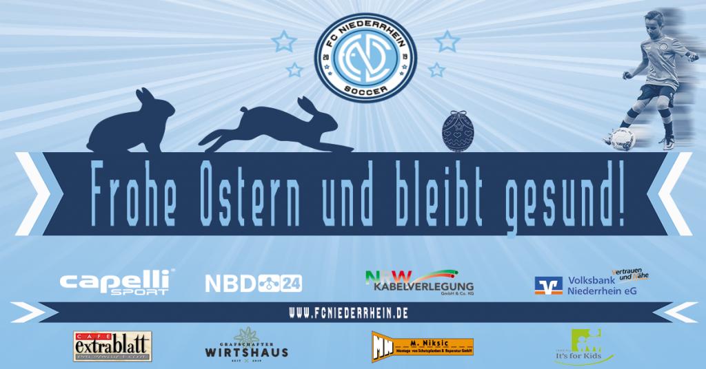 FC Niederrhein Soccer wünscht Euch frohe Ostern 🐰🐇 bleibt gesund und bis bald! Euer FC Niederrhein Soccer 💙🤍🖤